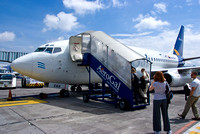 Boarding the Plane to San Cristobal from Guayaquil
